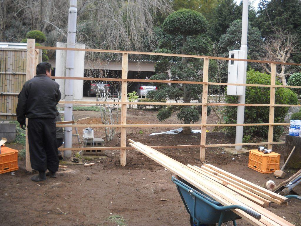 建仁寺垣の作り方