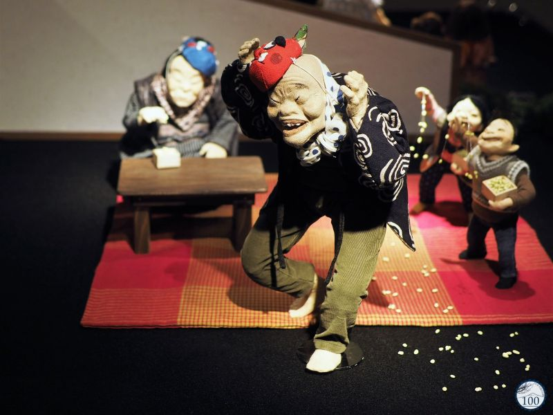 Doll setsubun in Maryumi Takahashi Museum of Doll Art