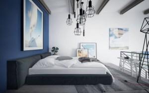colour bedroom combinations wall indigo paint walls interior paints enhance