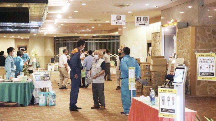 أحد الفنادق يستقبل الضحايا | عبر كيودو