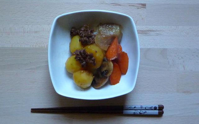 NIKU SOBORO JAGA – Kartoffeln mit Rindergehacktem