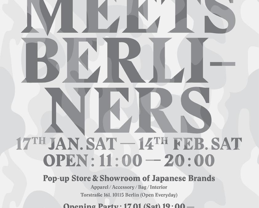 Tokyo meets Berliners – PopUp-Store und Showroom für japanische Brands