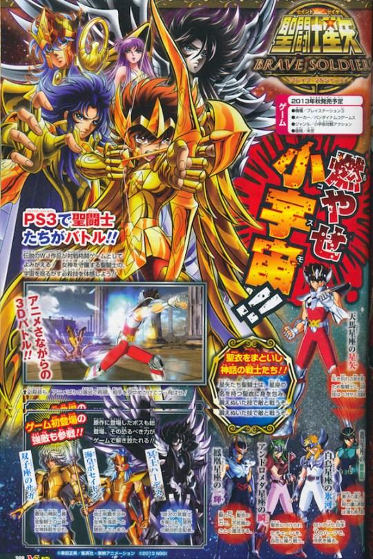 Actu Jeux Video, Jeux Vidéo, Namco Bandai, Playstation 3, Saint Seiya, Saint Seiya Bound Sens, Saint Seiya : Brave Soldiers,