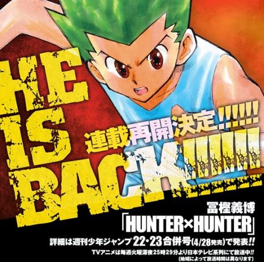 Hunter x Hunter, Actu Manga, Manga, Yoshihiro Togashi, Weekly Shonen Jump, Shueisha,