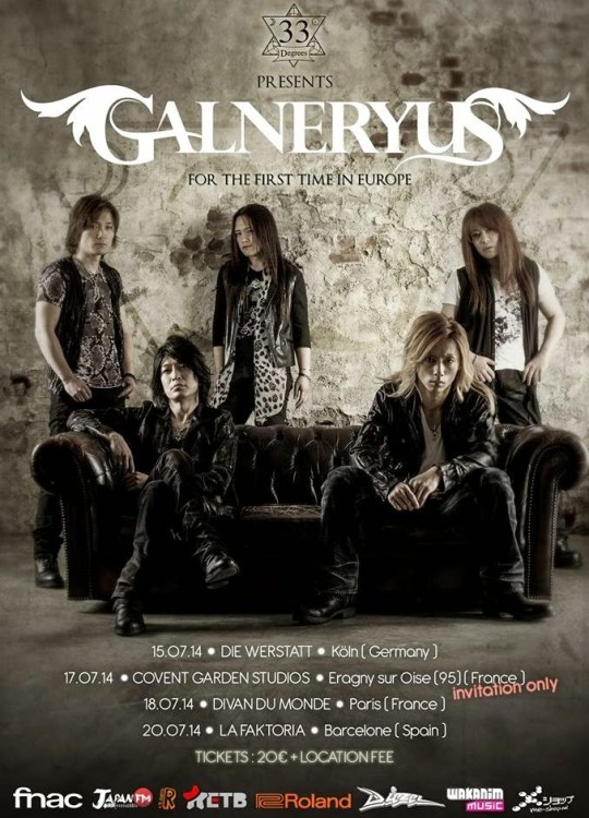 Galneryus, Actu J-Music, J-Music, 33 Degrees, Heavy Metal,