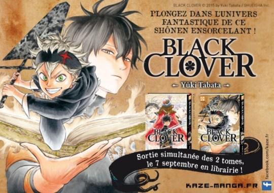 Black Clover, Kazé Manga, Manga, Actu Manga, Weekly Shonen Jump, Shueisha, Yûki Tabata,