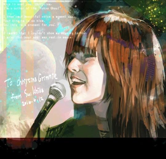 Le mangaka Sui Ishida rend hommage à la chanteuse Christina Grimmie