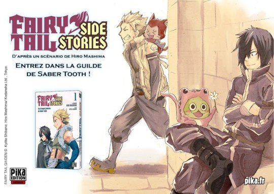 Fairy Tail - Les Dragons Jumeaux de Sabertooth, Fairy Tail - Side Stories, Manga, Actu Manga, Pika Edition,