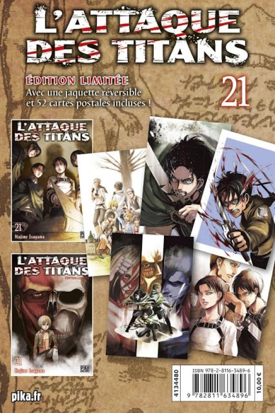 L'Attaque des Titans, Pika Edition, Manga, Actu Manga,