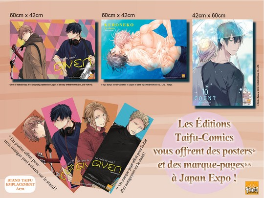 Actu Manga, Hentai, Japan Expo 2017, Manga, Taifu Comics, Yaoi, Yaoi Blue,