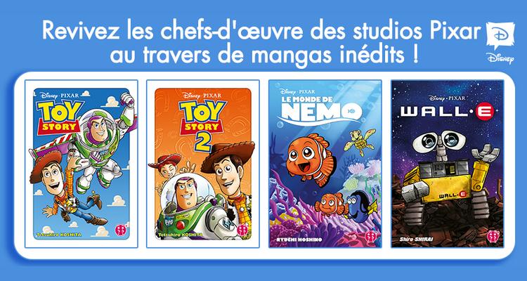 Suivez toute l'actu de Toy Story, Toy Story 2, Le Monde de Nemo, WALL-E et Disney Manga sur Nipponzilla, le meilleur site d'actualité manga, anime, jeux vidéo et cinéma