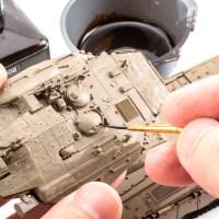 言われるがままモデリング/戦車プラモに「フィルターとピンウォッシュ」それなんですかの巻。