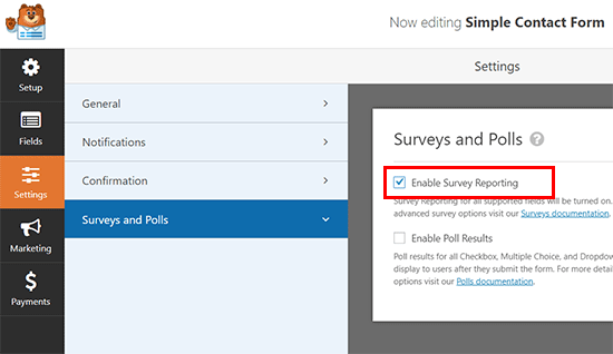 Enable survey form reporting - The Best Survey Software in 2020