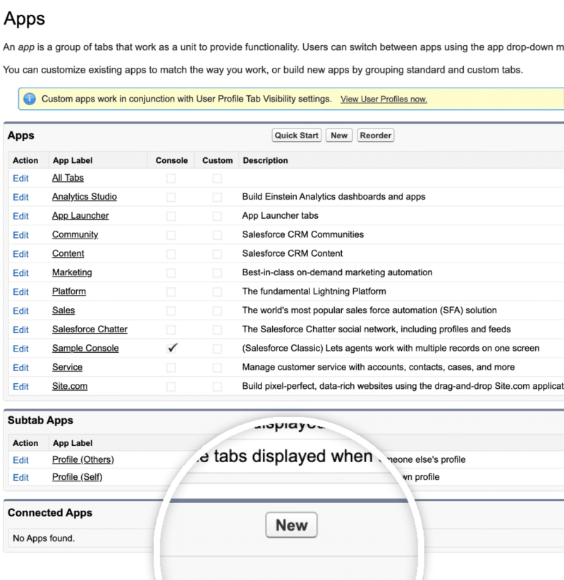 New-Connected app in Salesforce