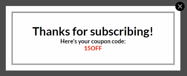 success view - How to Create a Popup Coupon that Boosts Sales