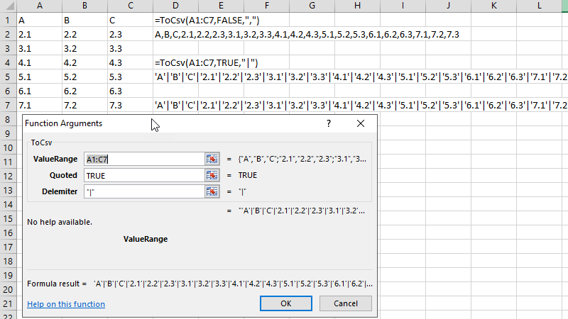 Excel to CSV