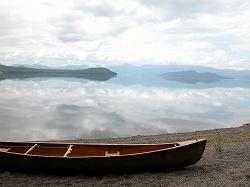 屈斜路湖でカヌー