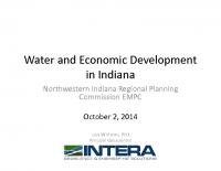 Water & Economic Development in Indiana (Oct 2014)
