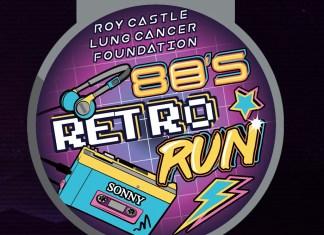 80s Retro Run Medal - Roy Castle