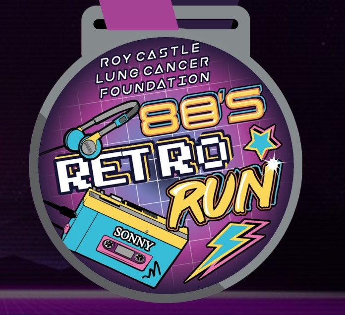 80s Retro Run Medal - Roy Castle