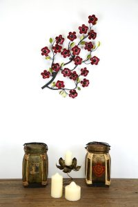 Medium Metal Cherry Blossom Wall Art