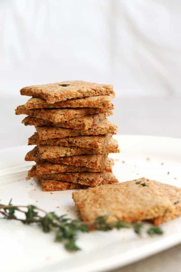 Parsnip and Thyme Grain Free Crackers
