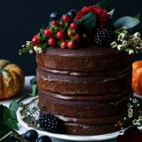 Pumpkin Chocolate Layer Cake (vegan & gluten-free)