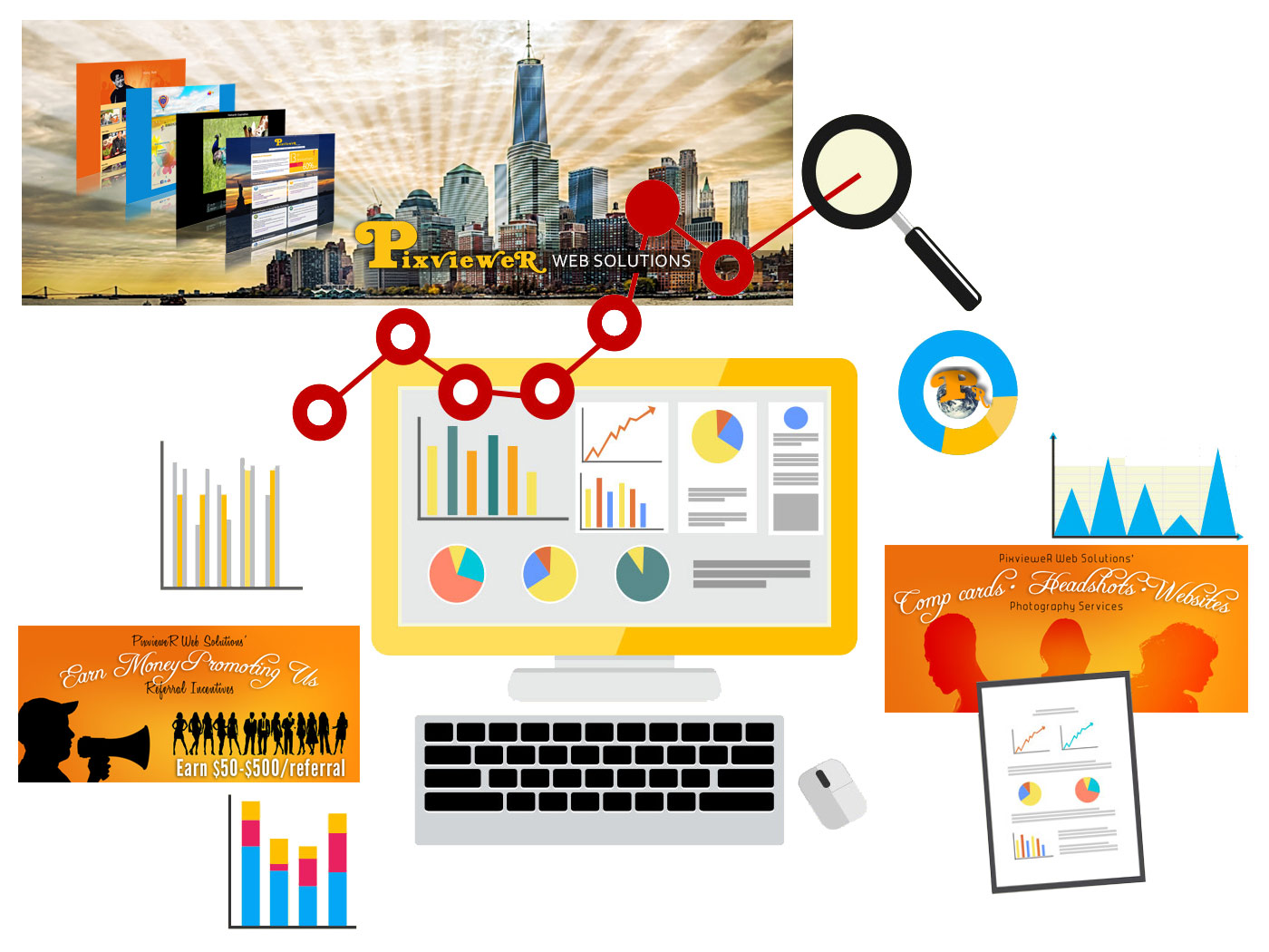 Pixviewer Web Solutions Branding