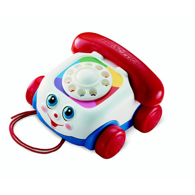 The snubnose's old pull-along toy telephone