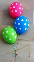 Who doesn't love polka dot balloons?