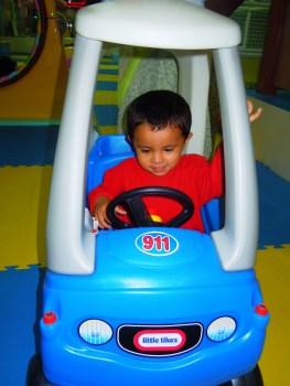 Driving on his own