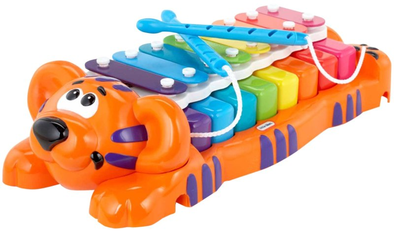 Piglet selected this xylophone as his birthday present from me