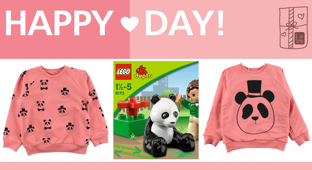 Pandas galore with Panda Lego for Piglet and a reversible Panda sweatshirt for Snubnose