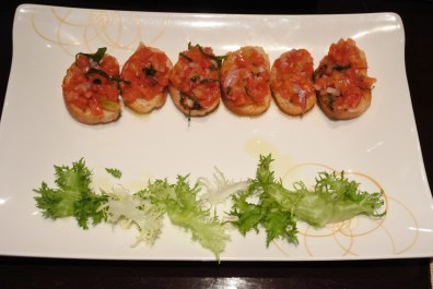 Bruschetta that was crunchy and melt in the mouth all at the same time