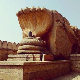 The impressive Shiva lingam