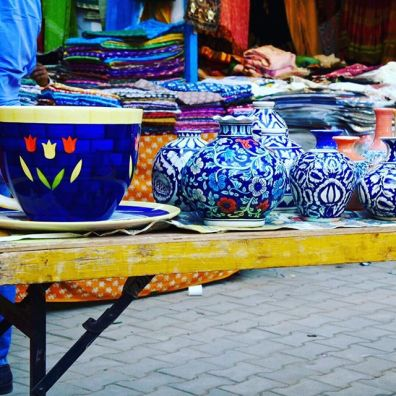 Beautiful colors of the pottery