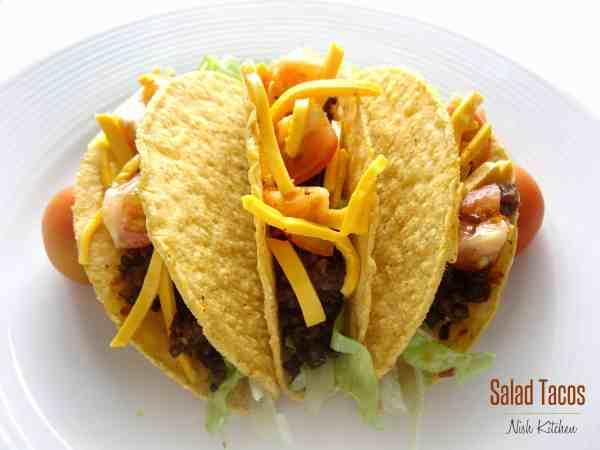 Mexican Salad Tacos