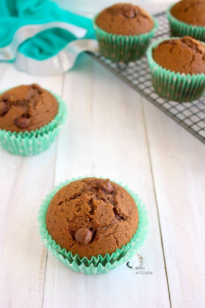 double choc chip muffins recipe