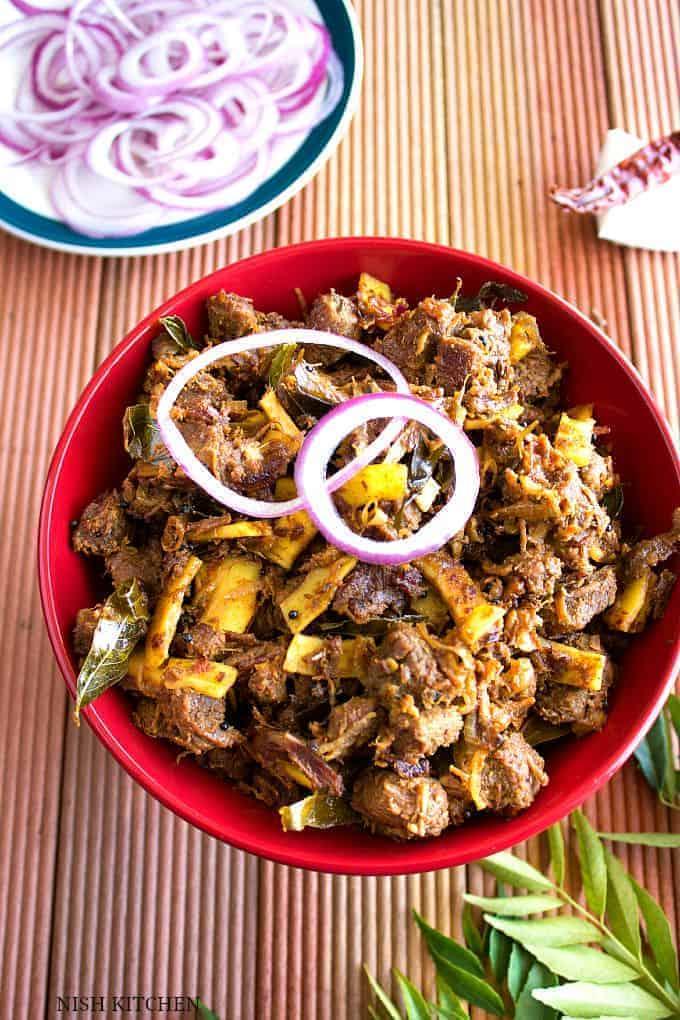 Kerala beef fry | Beef ularthiyathu | Nish Kitchen