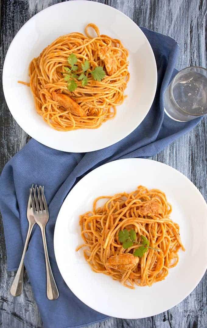butter chicken pasta recipe