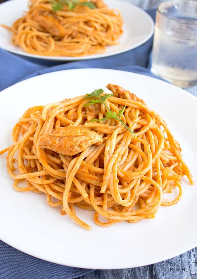 butter chicken pasta recipe video