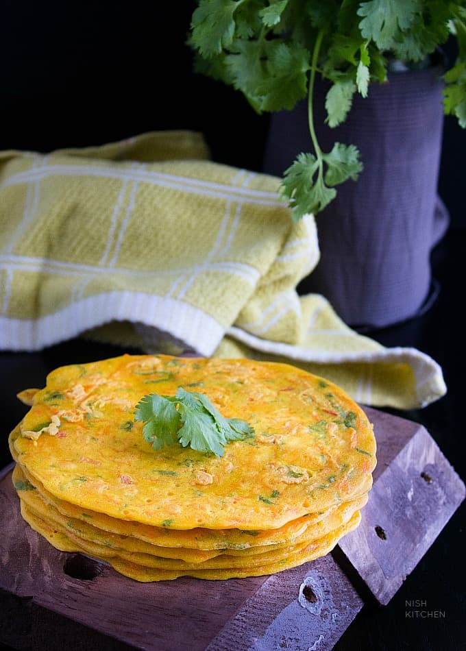 besan cheela - vegetarian omelette