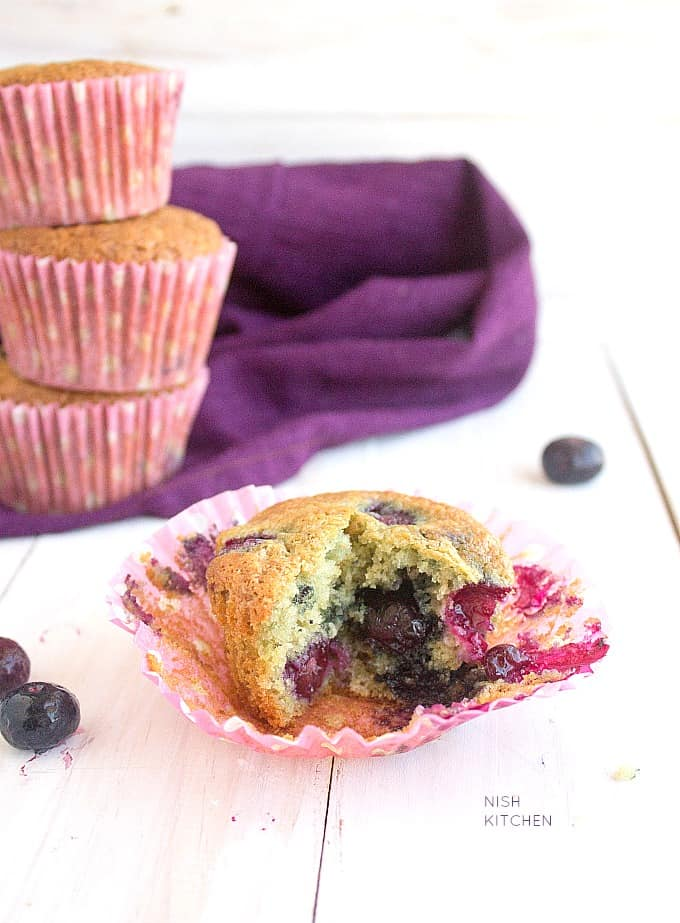 one bowl easy blueberry muffins recipe