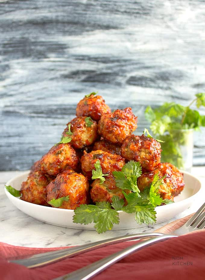 tandoori chicken meatballs recipe video