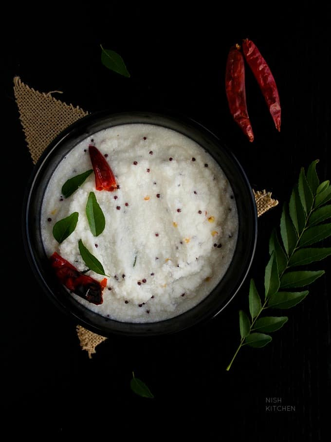 coconut chutney recipe with video