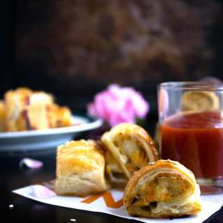 chicken sausage rolls recipe video
