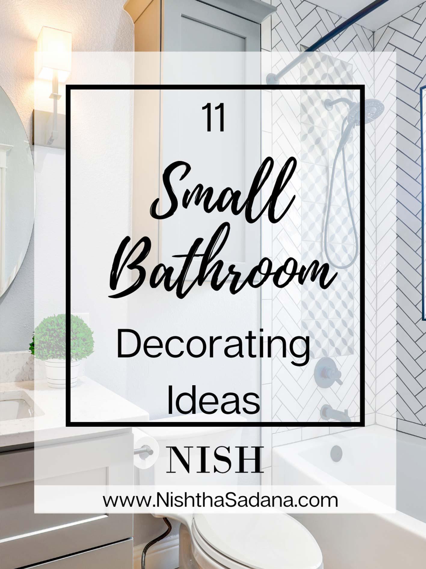 11 Small Bathroom Decorating Ideas Nish, Decorating Ideas For Bathroom