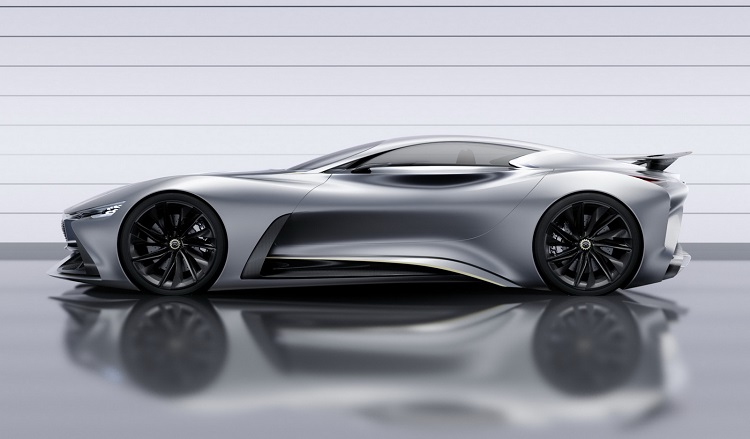 infiniti vision gt supercar concept side view