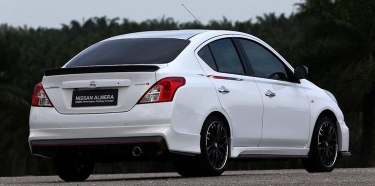 Nissan Almera Nismo rear view
