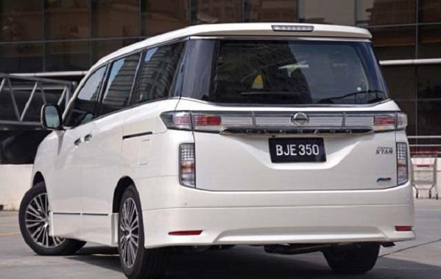 2020 Nissan Elgrand Rear